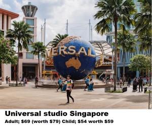 Sentosa Island, Singapore - January 18, 2018: Unidentified Peopl