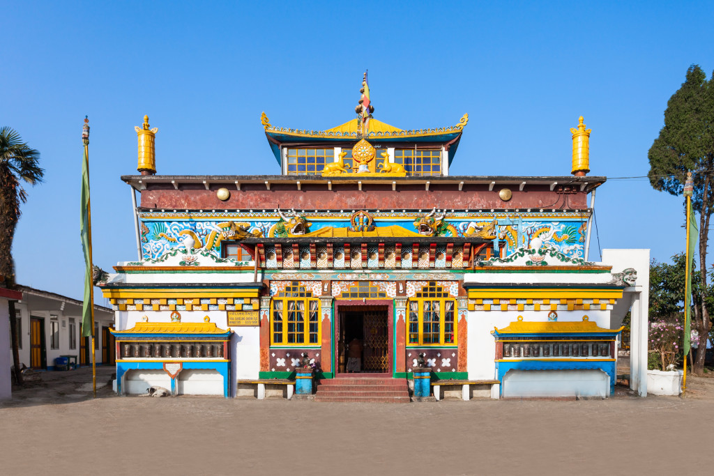 Old Ghoom Monastery is located at Ghum near Darjeeling in the state of West Bengal India. The monastery follows the Gelug school of Tibetan Buddhism.