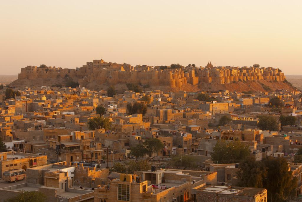 Panorama of the Golden Fort of Jaisalmer, India
